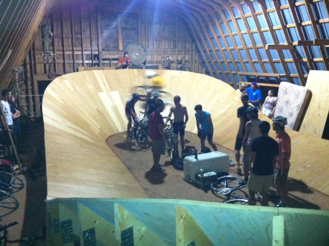 Riders Testing Red Bull Mini Drome